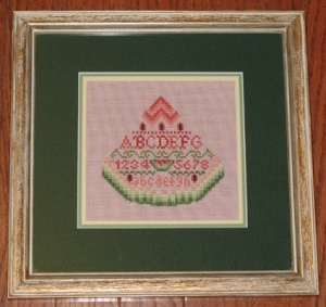 425 Watermelon Sampler framed